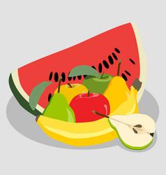 logo for fruit vector image