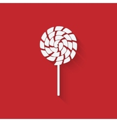 Lollipop icon in flat style vector