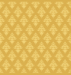 luxury seamless golden floral wallpaper pattern vector image