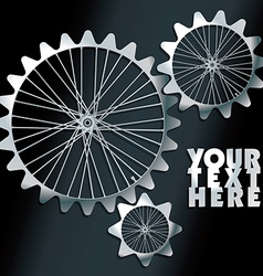 Machine gears with spokes background vector