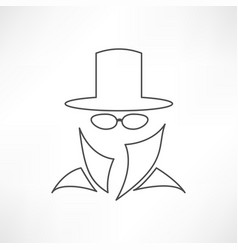 Man in suit secret service agent icon vector