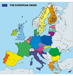 Map of european union vector