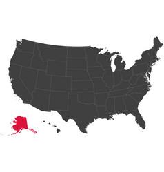 map of usa - alaska vector image
