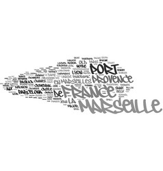 marseille word cloud concept vector image