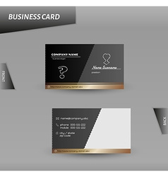 Modern design business card template vector