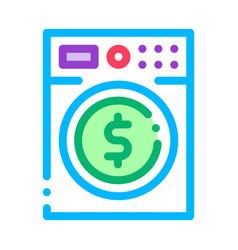 money laundering washing machine icon vector image