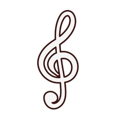 Musical note icon image vector
