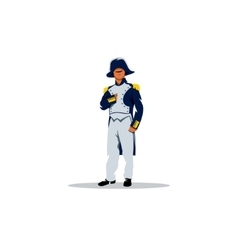 Napoleon Bonaparte cartoon character vector image