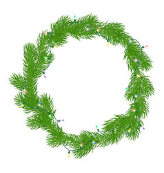 natural christmas wreath vector image