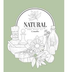 NAtural Cosmetics Vintage Sketch vector