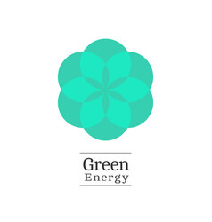 nature green logo vector image