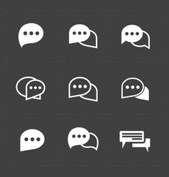 New speech bubble icons vector