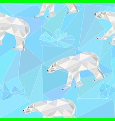 north pole seamless pattern with polar bear vector image