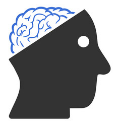 open brain icon vector image