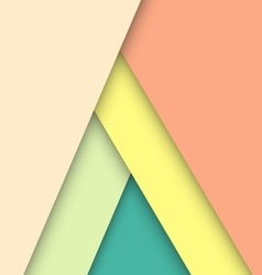 Pastel material design with shadow vector image