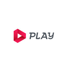 Play logo music digital video movie player vector