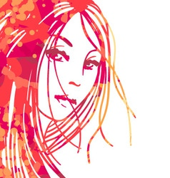 portrait of beautiful women vector image