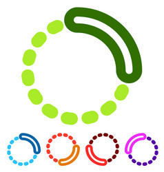 preloader or buffer shapes circular elements vector image