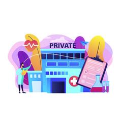 Private healthcare concept vector