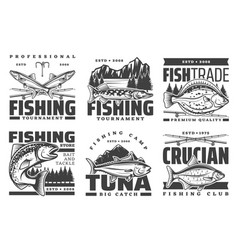 profession fishing tournament big fish catch camp vector image
