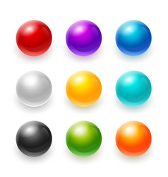 Rainbow 3d ball blue red sphere yellow vector