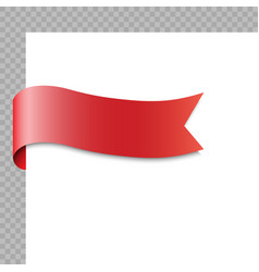 realistic ribbon or banner on white background vector image