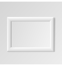 Realistic White horizontal frame for paintings vector image