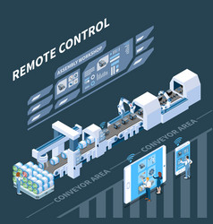 remote control smart industry composition vector image