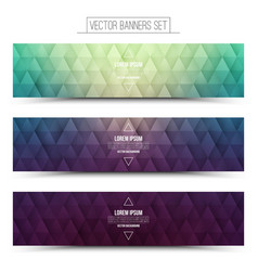 Retro Web Banners Set vector image