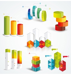 Rich set Infographic Design vector image