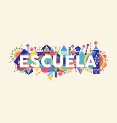 School education quote in spanish language vector