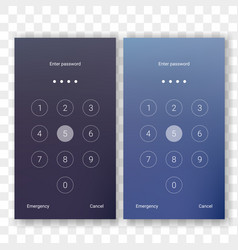 screen lock unlock password smartphone background vector image