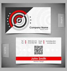 Set creative business cards vector