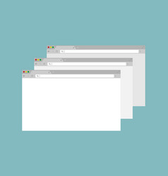 set of open internet browser window on computer vector image