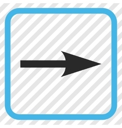 Sharp Arrow Right Icon In a Frame vector
