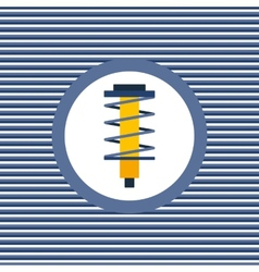 Shock absorber color flat icon vector image