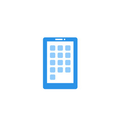 smartphone icon blue monochrome color vector image