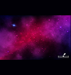space background cosmos with nebula and shining vector image