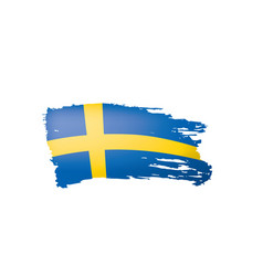 sweden flag on a white vector image