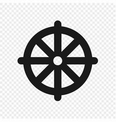 Symbol buddhism isolated vector