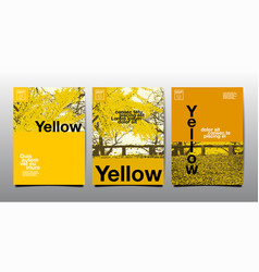 Template layout design cover book yellow theme vector
