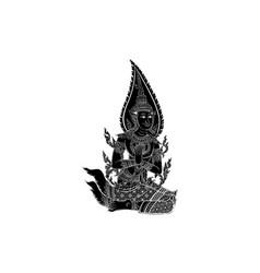 Thai traditional bhudthaisawan temple vector
