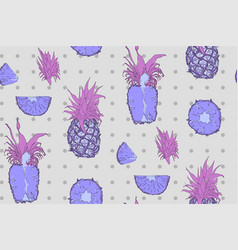 tropical fruits - seamless pattern vector image