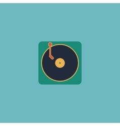 Turntable dj icon vector image