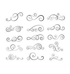 Vintage flourish swirls vector image