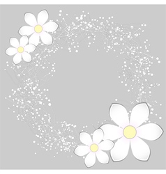 White Paper Flower Card Design vector