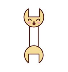 Wrench tool kawaii character vector