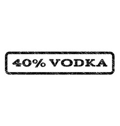 40 percent vodka watermark stamp vector image