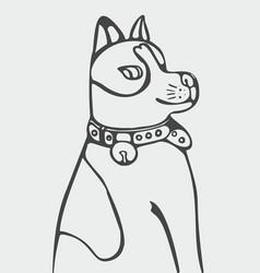 abstract of cartoon dog vector image