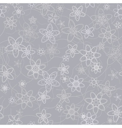 abstract flowers floral grey seamless background vector image vector image